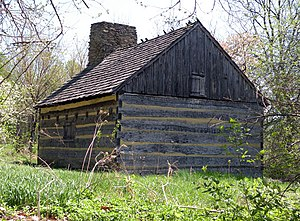 Schenley Park - Neill Log House in Schenley Park, built circa 1787 (or before), once belonged to the family of Robert Neill, and later to Col. James O'Hara and his granddaughter Mary Schenley (for whom the park is named).