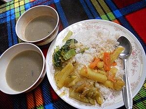 English: Nepali meal