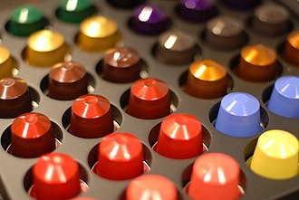 Nespresso - Assorted Nespresso capsules: each color indicates a variety of coffee