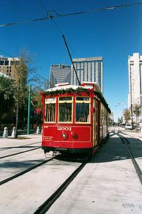 Red Canal Streetcar, New Orleans, before Katri...