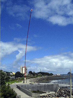 Len Lye - A 45m Wind Wand on the New Plymouth waterfront