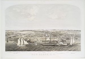 New Bern, North Carolina - View of New Bern in 1864