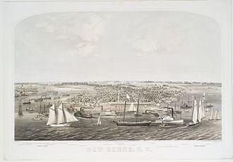 New Bern, North Carolina - View of New Bern in 1864