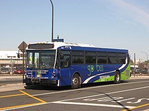 Bus rapid transit in New Jersey - Buses in the Newark BRT system are wrapped with go bus
