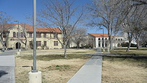 New Mexico Institute of Mining and Technology - A view of Weir Hall (left) and the Library/Media Center (right) in the heart of campus.