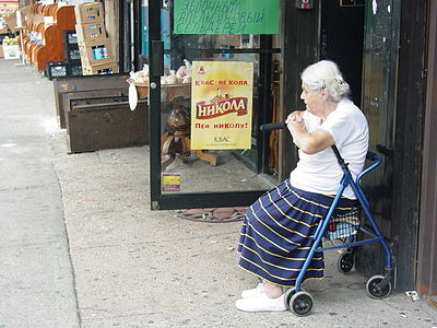 New York City - Old Woman in Brighton Beach - Little Odessa