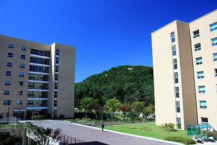 More than 1,300 dorm rooms stand newly renovated at Gwanaksa since September 2010. Newgwanaskacomplete.JPG
