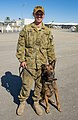 No 3 Security Force Squadron RAAF military working dog handler and dog during Talisman Sabre 2019.jpg