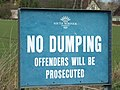 No Dumping Sign - geograph.org.uk - 1734789.jpg