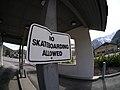 No Skateboarding sign in Leavenworth Washington.jpg