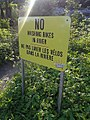 No Washing Bikes in River Sign East Burke VT June 2018.jpg