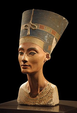 Nefertiti - The bust of Nefertiti from the Ägyptisches Museum Berlin collection, presently in the Neues Museum.