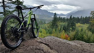 Mountain bike - A full suspension mountain bike. Norco Range C3 above Squamish