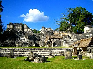 North Acropolis, Tikal - The North Acropolis viewed from the Great Plaza
