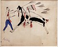 Nord o sud dakota, hunkpapa lakota, disegno da libro mastro, forse da toro seduto, 1900 ca. 04.jpg