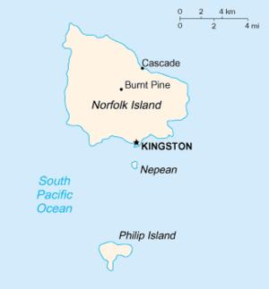 Norfolk Island-CIA WFB Map