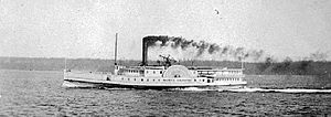 Princess Louise (sidewheeler) - ''North Pacific'' circa 1871, Olympias rival in the 1871 steamboat race.