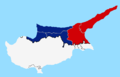 Northern Cyprus presidential election 2015 first round map.png