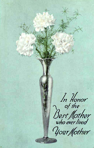 Mother's Day - Northern Pacific Railway postcard for Mother's Day 1916.
