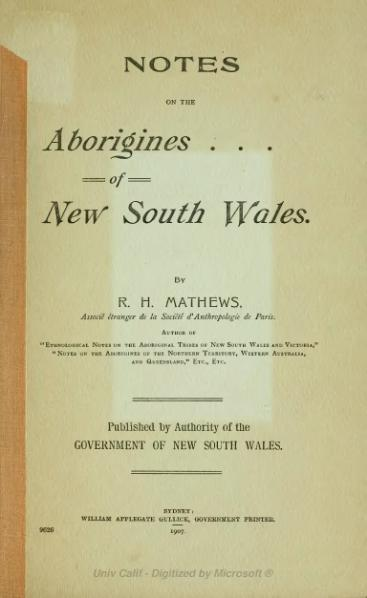 File:Notes on the Aborigines of New South Wales.djvu