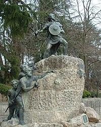 Monumento ao lusitano Viriato em Viseu, Portugal