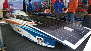 World Solar Challenge - Nuna 7, winner of the 2013 Bridgestone World Solar Challenge