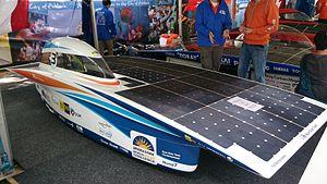 Nuna 7 - Nuna 7 at the finish of the 2013 Bridgestone World Solar Challenge