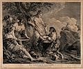 Nymphs holding the new born Adonis next to a myrrh tree repr Wellcome V0014974.jpg