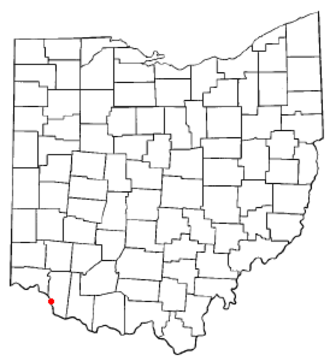 New Richmond, Ohio - Image: OH Map doton New Richmond
