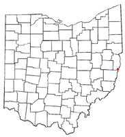 Location of Rayland, Ohio