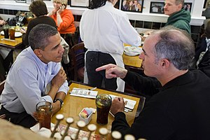 """The President has lunch with Sen. Bob Ca..."