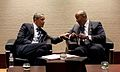 Obama and Ron Kirk meet.jpg