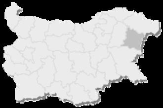 3rd MMC – Varna - Map of Bulgaria, 3rd MMC - Varna is highlighted