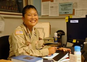 Spc. Kay Izumihara, an Occupational therapist ...