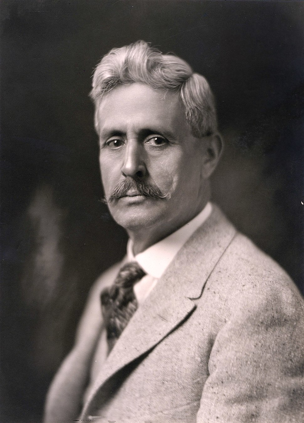 Octaviano Larrazolo, bw photo portrait, 1919