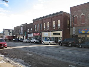 Oregon Commercial Historic District - Historic buildings in the 300 Block of Washington Street, Oregon, Illinois.