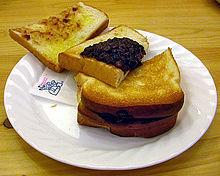 Toast ogura con burro e anko