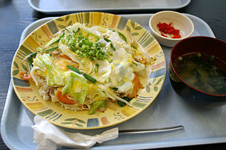 Champon - Champon from Okinawa is a rice dish served with assorted vegetables and scrambled egg