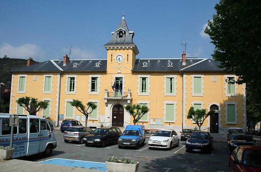 Olargues (Hérault) - mairie.