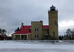 Old Mackinac Point Light - Old Mackinac Point Lighthouse in 2016.
