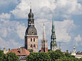 Old Riga towers (14465876617).jpg