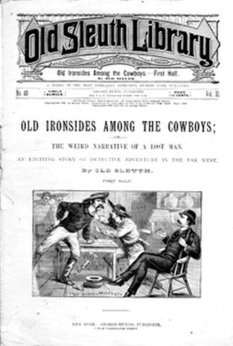 Dime novel - Old Sleuth Library, 1888