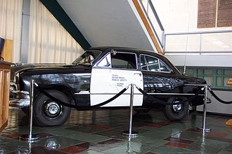 Texas Highway Patrol - Texas Highway Patrol car, circa 1953