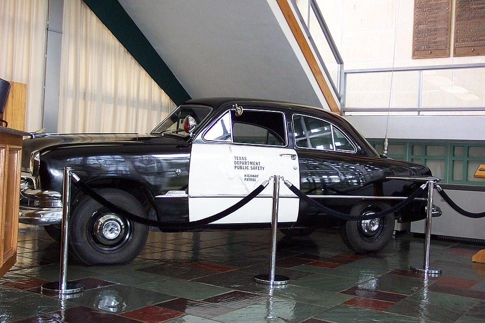 Old Texas Highway Patrol car