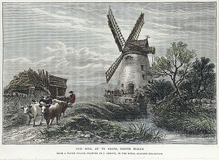 Old mill at Ty Cross, north Wales