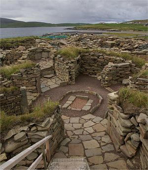 Wheelhouse (archaeology) - Wheelhouse at the archæological site of Old Scatness, Shetland