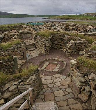 Wheelhouse (archaeology) - Wheelhouse at the archæological site of Old Scatness, Shetland