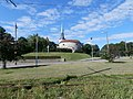 Oleviste kirik and Paks Margareeta in Tallinn 2 July 2013.jpg