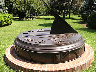 Forest Lawn Memorial Park (Omaha) - Forest Lawn Sundial designed by John Carmichael at Sundial Sculptures
