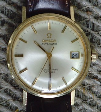 """Omega SA - Omega Seamaster De Ville, an early """"waterproof"""" watch, with automatic movement and date, in 14k gold"""